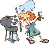 A_Woman_Barbecuing